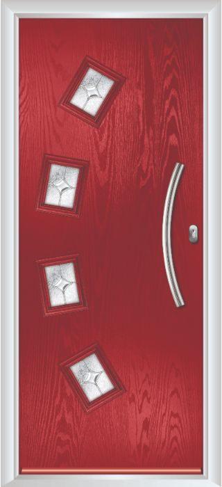 Composite Door - Macmillan - Contemporary Collection - Red