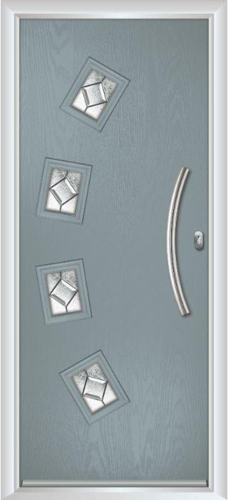 Composite Door - Macmillan - Contemporary Collection - Silver Grey
