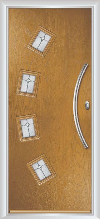 Composite Door - Macmillan - Contemporary Collection - Irish Oak