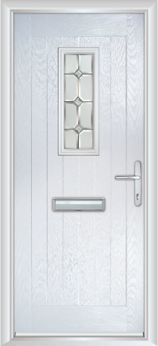 Composite Door - Maple- Rural Collection - White