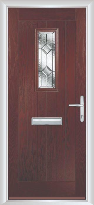Composite Door - Maple- Rural Collection - Rosewood