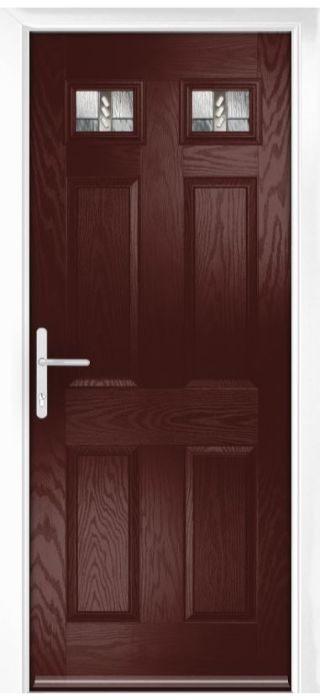 Composite Door - Alnwick - Classic Collection - Rosewood