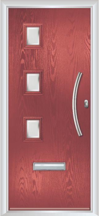 Composite Door - Maxwell - Contemporary Collection - Marsala
