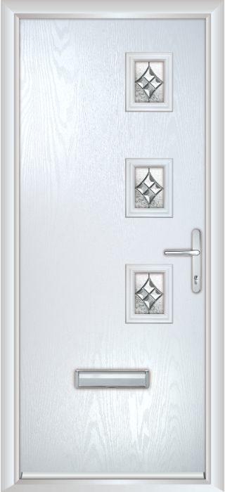 Composite Door - Maxwell - Contemporary Collection - White