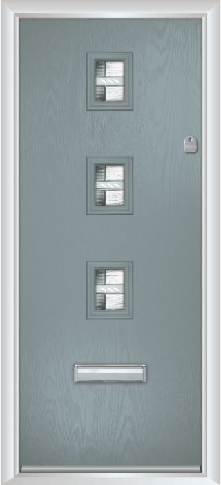 Composite Door - Maxwell - Contemporary Collection - Silver Grey