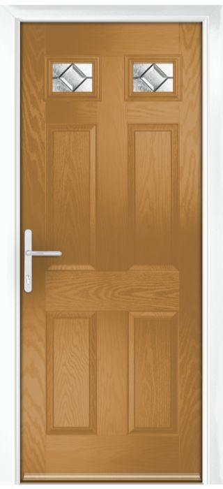Composite Door - Alnwick - Classic Collection - Irish Oak