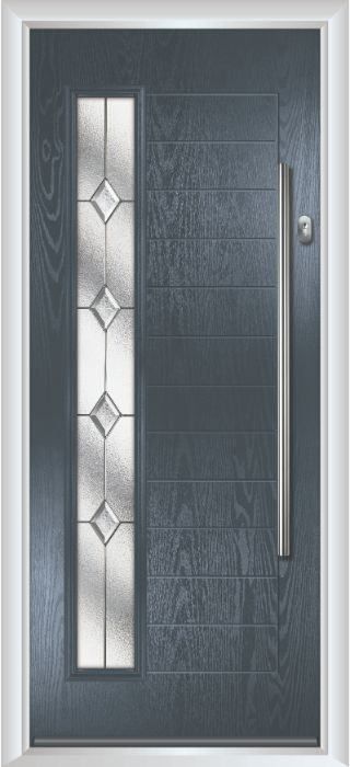 Composite Door - Talbot - Contemporary Collection - Anthracite Grey