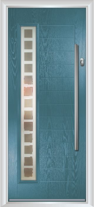 Composite Door - Talbot - Contemporary Collection - Victory Blue
