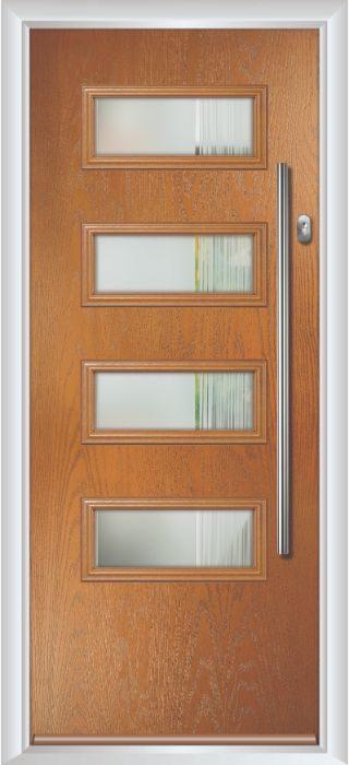 Composite Door - Volta - Contemporary Collection - Golden Oak