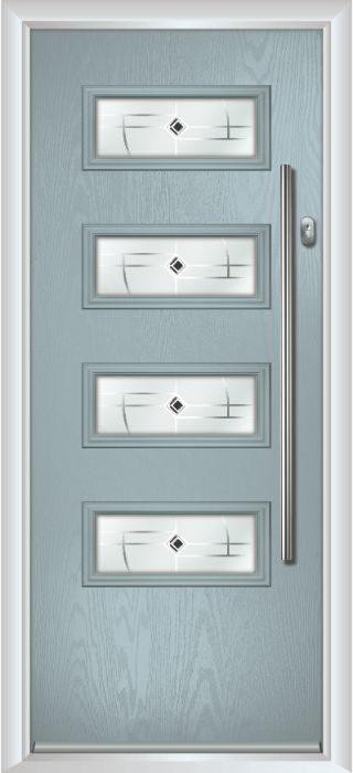 Composite Door - Volta - Contemporary Collection - Silver Grey