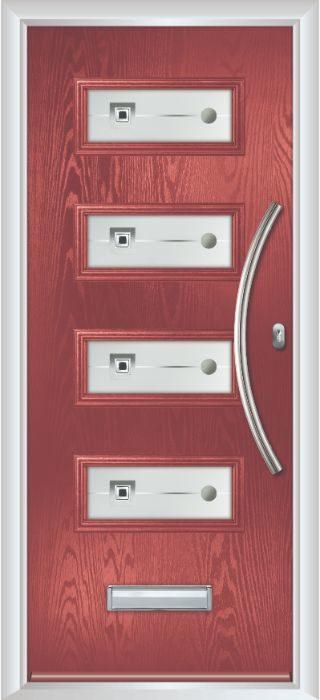 Composite Door - Volta - Contemporary Collection - Marsala