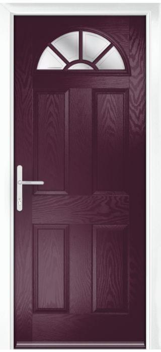 Composite Door - Warkworth - Classic Collection - Very Berry