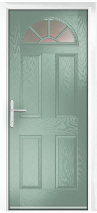 Composite Door - Warkworth - Classic Collection - Chartwell Green
