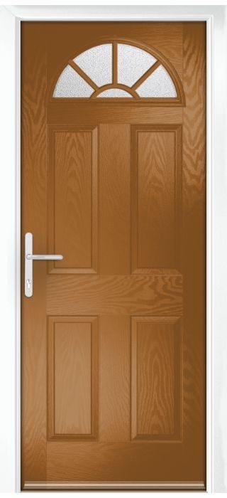 Composite Door - Warkworth - Classic Collection - Golden Oak