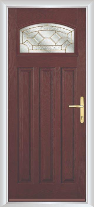 Composite Door - Warwick - Classic Collection - Rosewood
