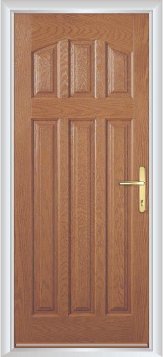 Composite Door - Warwick Solid - Classic Collection - Golden Oak