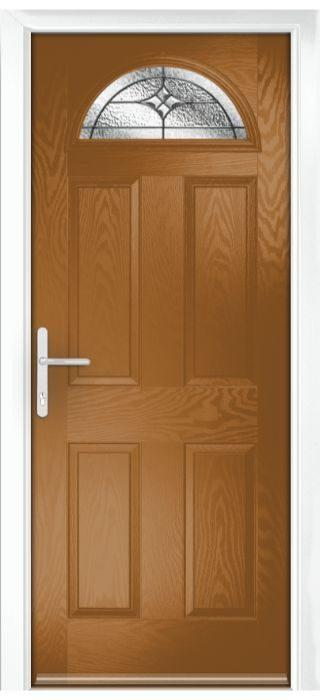 Composite Door - York - Classic Collection - Golden Oak
