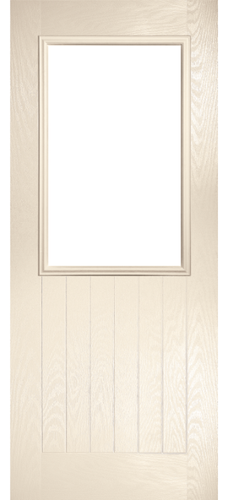 Composite Door - Larch - Rural Collection - Cream White