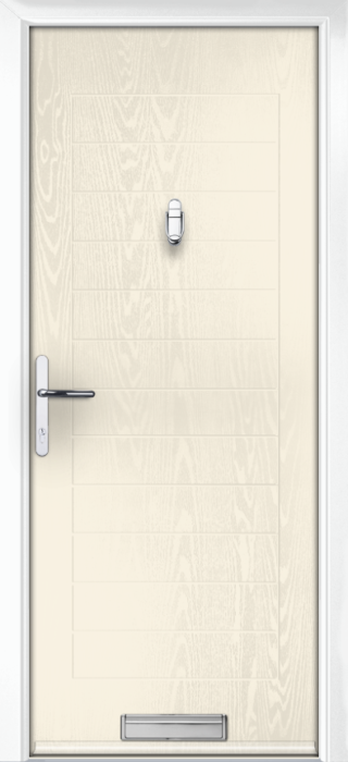 Composite Door - Talbot Solid - Classic Collection - White Cream