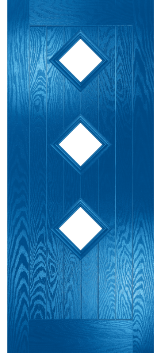 Composite Door - Hornbeam 3 - Rural Collection - French Blue
