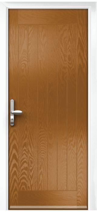 Composite Door - Aspen - Rural Collection - Golden Oak