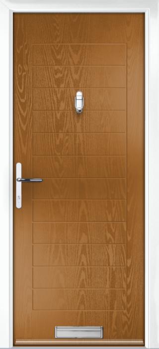 Composite Door - Talbot Solid - Classic Collection - Golden Oak
