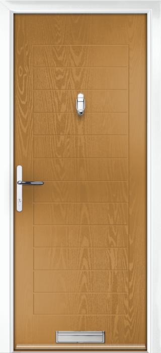 Composite Door - Talbot Solid - Classic Collection - Irish Oak