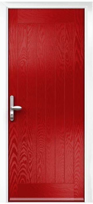Composite Door - Aspen - Rural Collection - Red