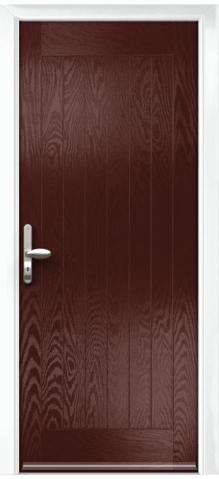 Composite Door - Aspen - Rural Collection - Rosewood