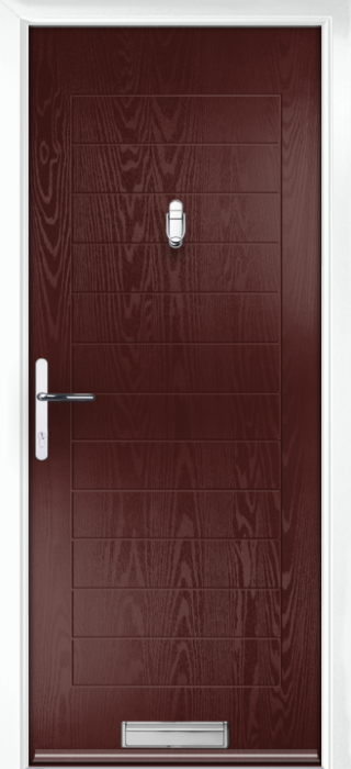 Composite Door - Talbot Solid - Classic Collection - Rosewood