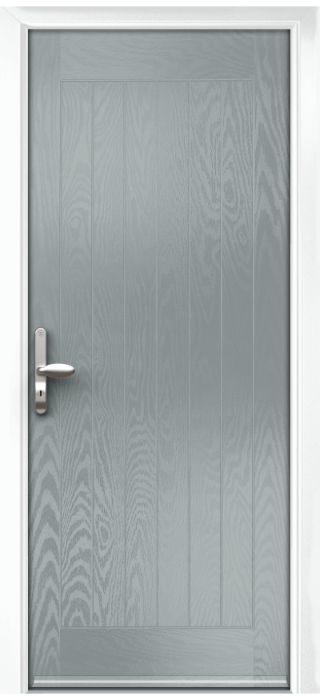 Composite Door - Aspen - Rural Collection - Silver Grey