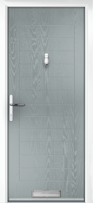 Composite Door - Talbot Solid - Classic Collection - Silver Grey