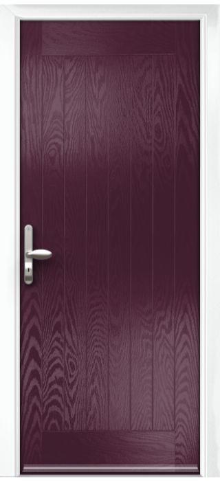 Composite Door - Aspen - Rural Collection - Very Berry