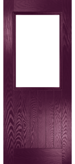 Composite Door - Larch - Rural Collection - Very Berry