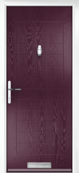 Composite Door - Talbot Solid - Classic Collection - Very Berry