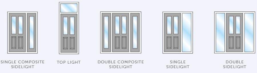 composite door with sidelights
