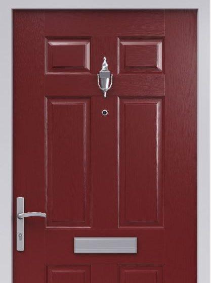 Red Composite Fire Door